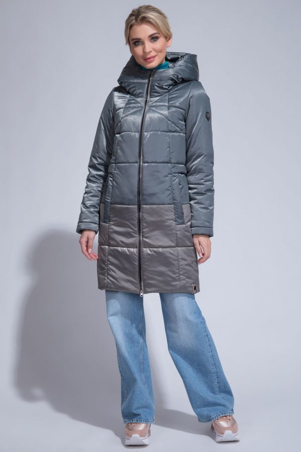Комбинированое пальто