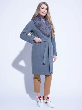 Пальто с фростом