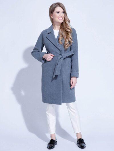 Пальто женское из велюра
